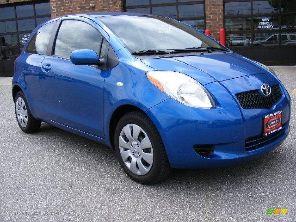 2007 Blazing Blue Metallic Toyota Yaris 3 Door Liftback ...