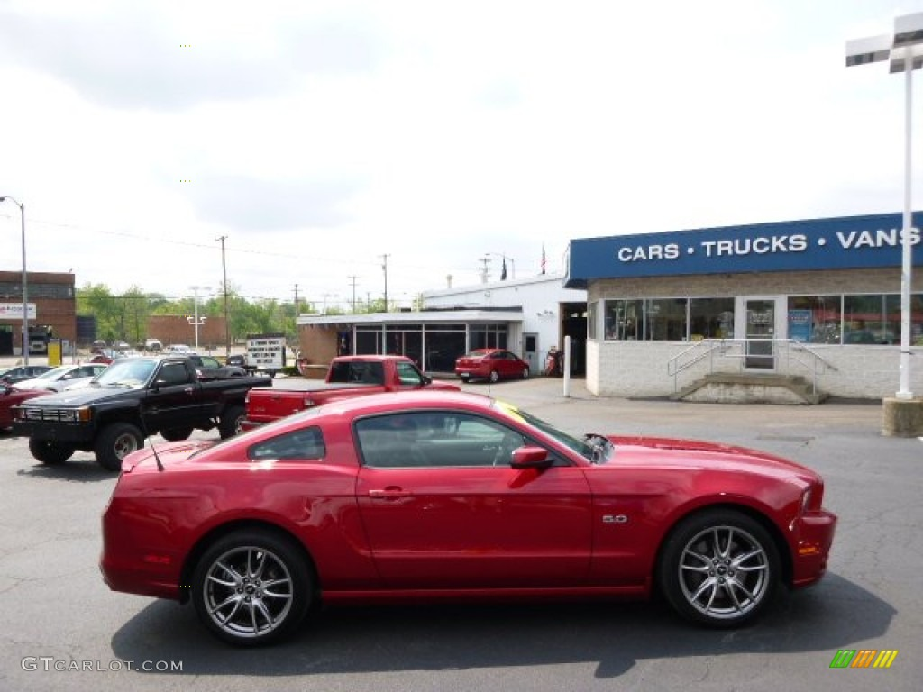2013 Mustang GT Premium Coupe - Red Candy Metallic / Charcoal Black photo #1