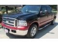 Black 2006 Ford F250 Super Duty Lariat Crew Cab
