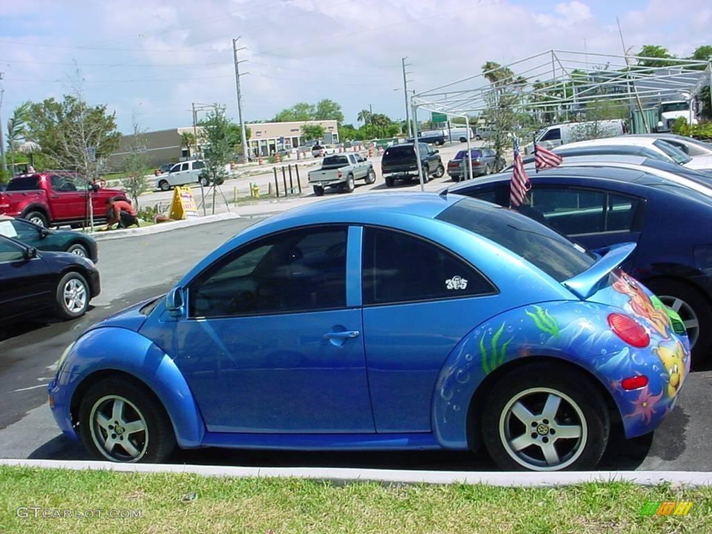 1998 techno blue metallic volkswagen new beetle 2 0 coupe 9337498 car color. Black Bedroom Furniture Sets. Home Design Ideas