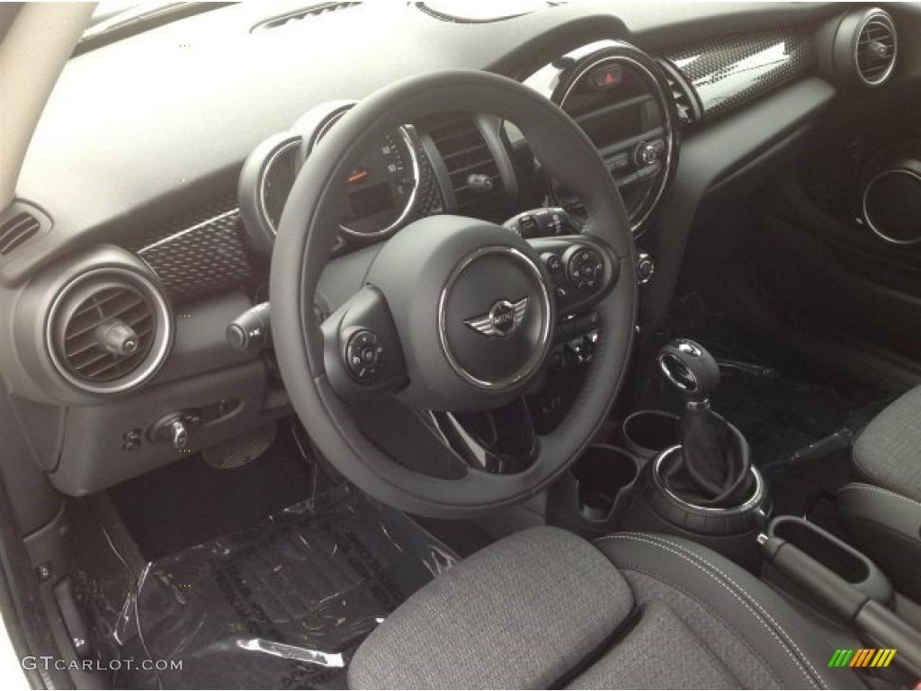 Leatherette Cloth Black Pearl Interior 2014 Mini Cooper S