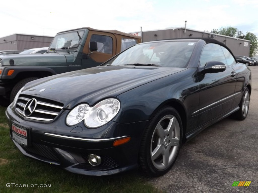 2007 black opal metallic mercedes benz clk 550 cabriolet for 2007 mercedes benz clk