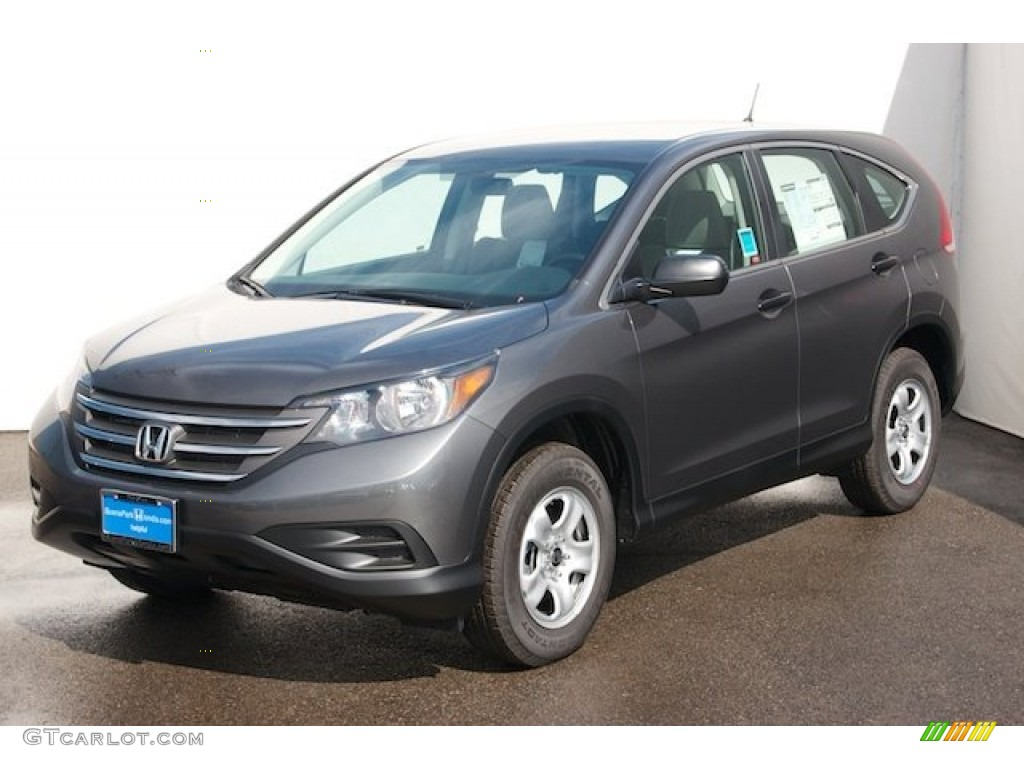 2014 CR-V LX - Polished Metal Metallic / Gray photo #3