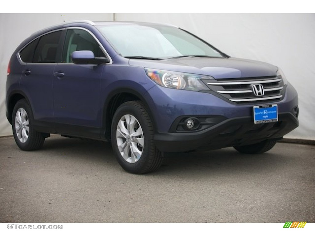2014 CR-V EX-L - Twilight Blue Metallic / Gray photo #1