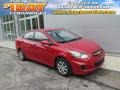 Boston Red 2012 Hyundai Accent GLS 4 Door
