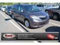 2012 Predawn Gray Mica Toyota Sienna LE AWD  photo #1