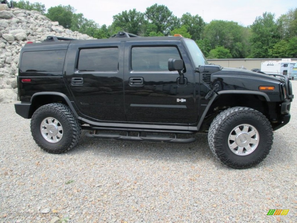 Black 2004 Hummer H2 Suv Exterior Photo 93928577