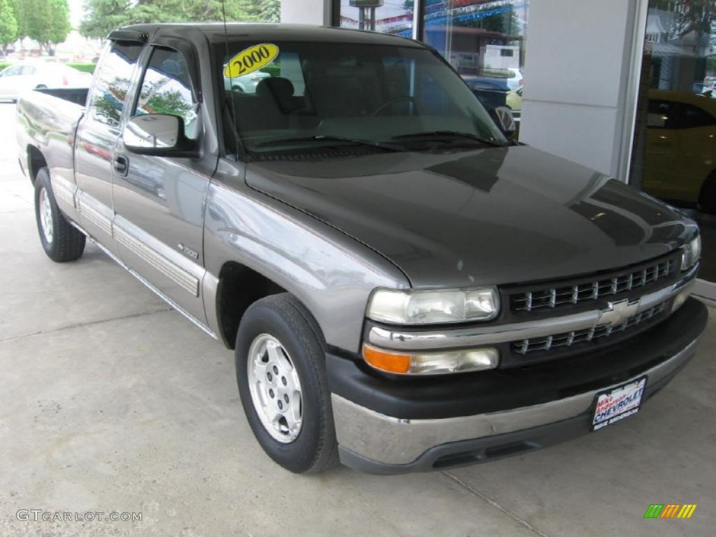2000 Silverado 1500 LS Extended Cab - Charcoal Gray Metallic / Graphite photo #1