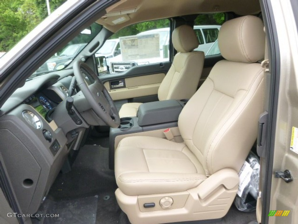 Pale Adobe Interior 2014 Ford F150 Xlt Supercab 4x4 Photo 93945033