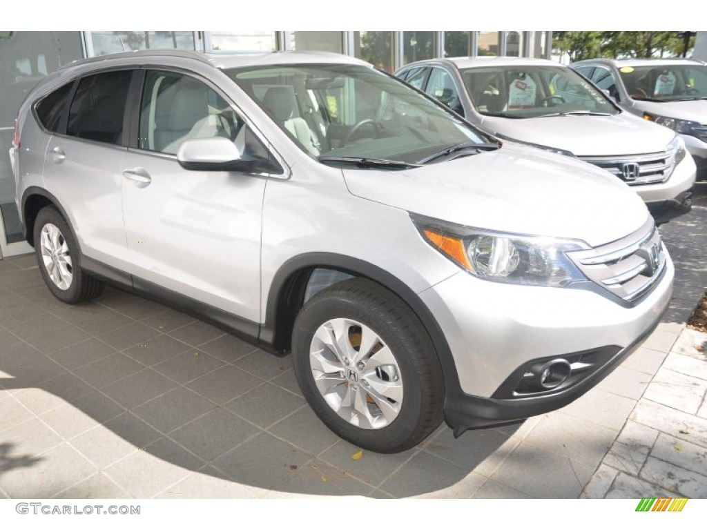 2014 CR-V EX-L - Alabaster Silver Metallic / Gray photo #4