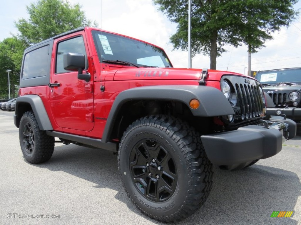 Flame red 2014 jeep wrangler willys wheeler 4x4 exterior photo 93984789 gtcarlot com