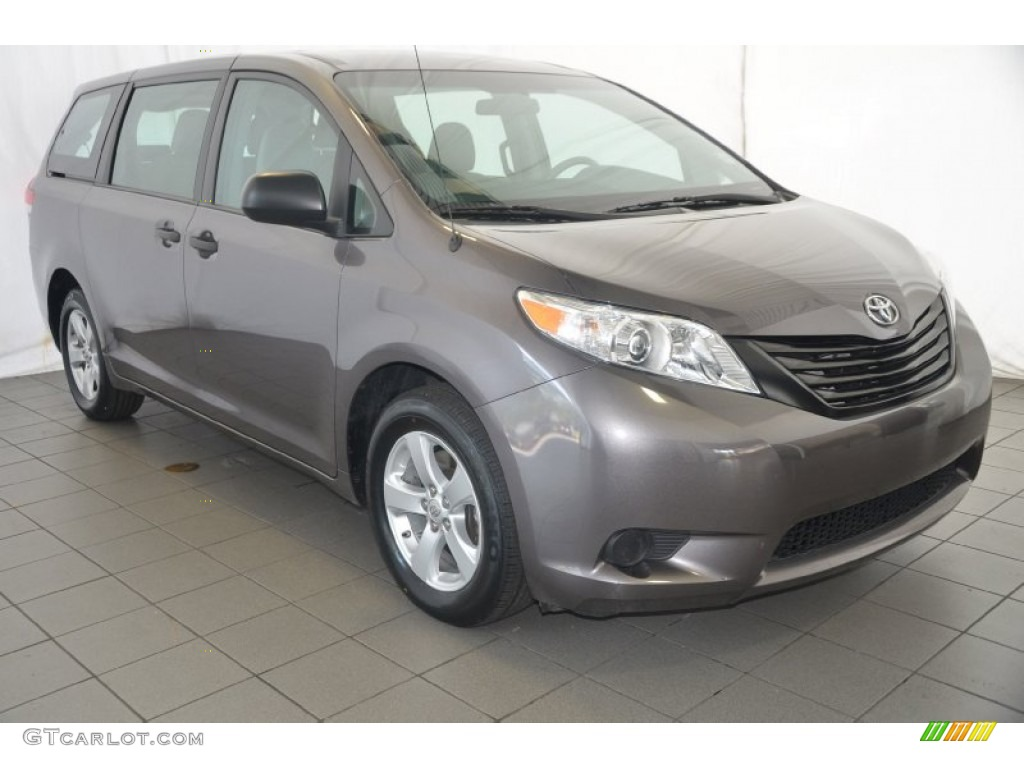 2012 Sienna  - Predawn Gray Mica / Light Gray photo #1