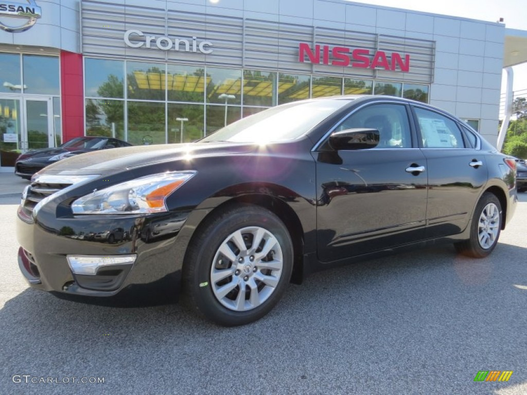 2014 Super Black Nissan Altima 2 5 S 94090438 Car Color Galleries