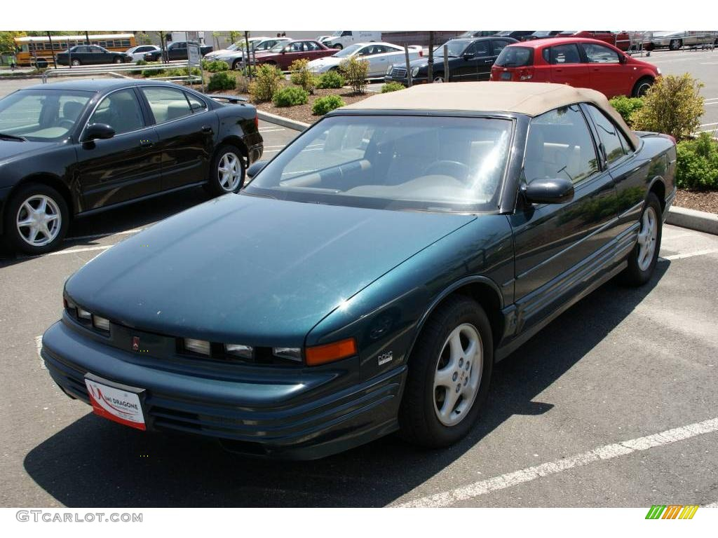 1995 dark teal metallic oldsmobile cutlass supreme convertible 9335414 gtcarlot com car color galleries gtcarlot com