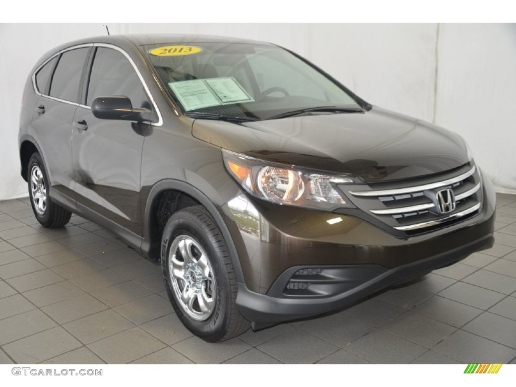 2013 CR-V LX - Kona Coffee Metallic / Black photo #1