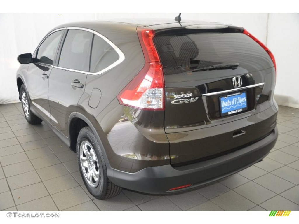 2013 CR-V LX - Kona Coffee Metallic / Black photo #6