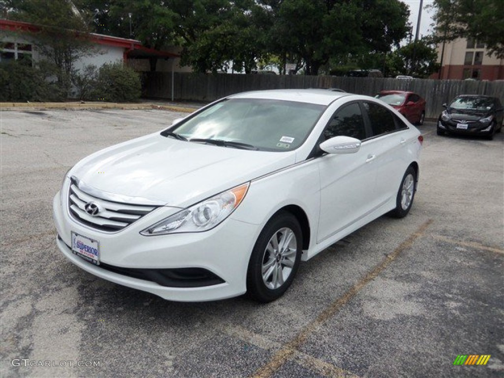 2014 pearl white hyundai sonata gls 94133446 car color galleries. Black Bedroom Furniture Sets. Home Design Ideas
