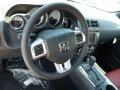 2014 Dodge Challenger Dark Slate Gray/Radar Red Interior Steering Wheel Photo