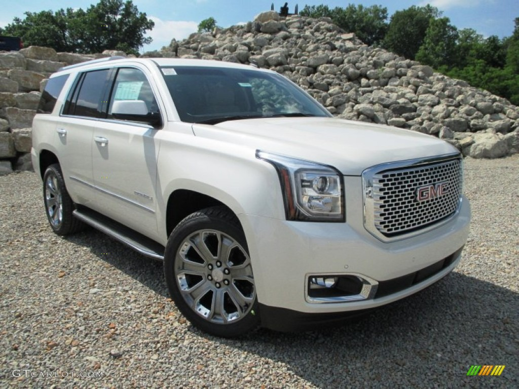 white diamond tricoat 2015 gmc yukon denali 4wd exterior. Black Bedroom Furniture Sets. Home Design Ideas