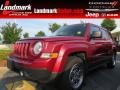 Deep Cherry Red Crystal Pearl 2014 Jeep Patriot Sport