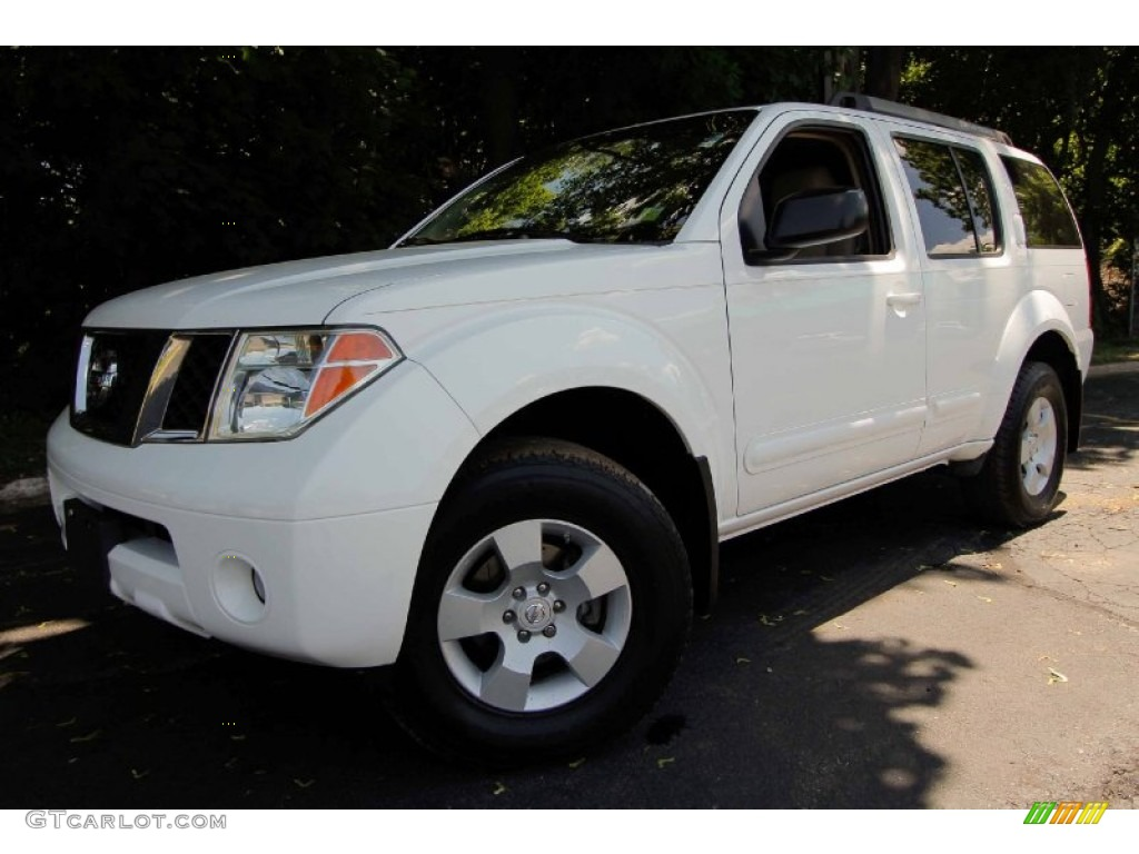 avalanche white 2005 nissan pathfinder xe 4x4 exterior. Black Bedroom Furniture Sets. Home Design Ideas