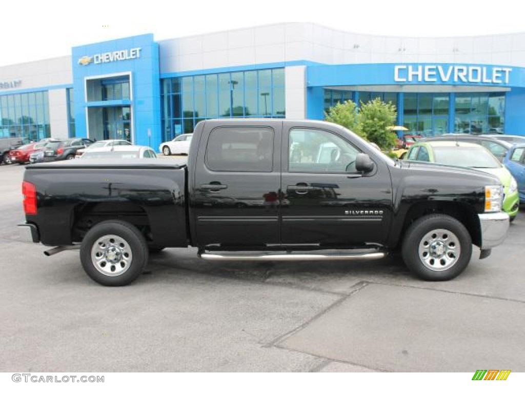 2012 Silverado 1500 LS Crew Cab - Black / Dark Titanium photo #1