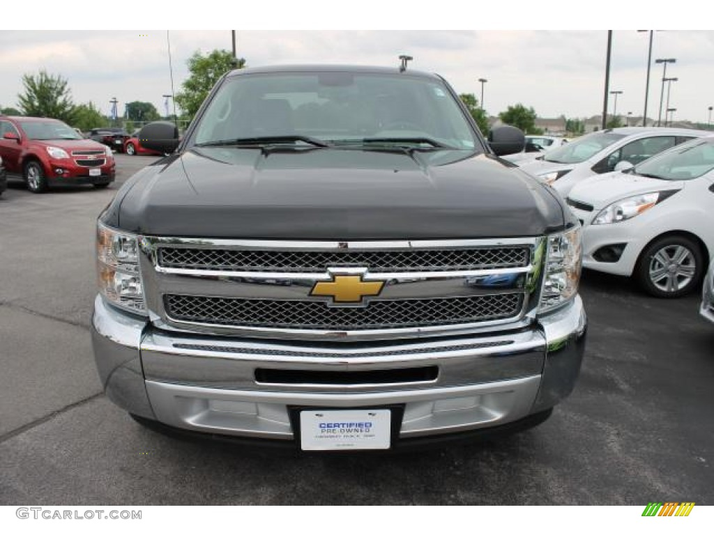 2012 Silverado 1500 LS Crew Cab - Black / Dark Titanium photo #8