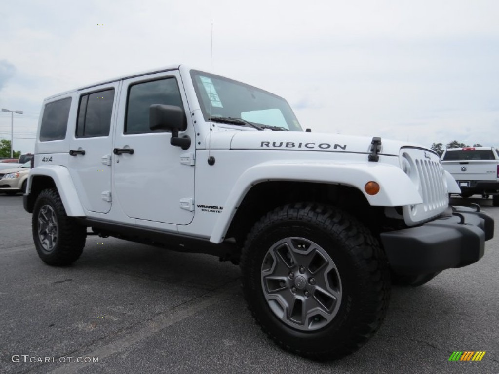 bright white 2014 jeep wrangler unlimited rubicon 4x4 exterior photo 94431230. Black Bedroom Furniture Sets. Home Design Ideas