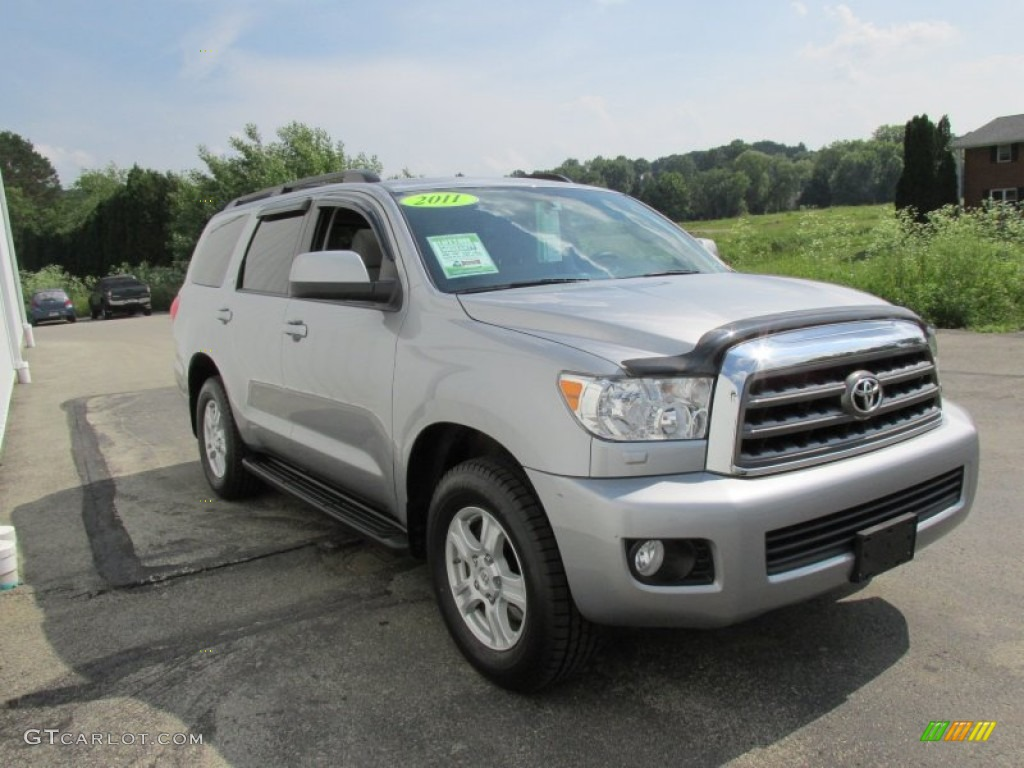 silver sky metallic 2012 toyota sequoia sr5 4wd exterior photo 94494420. Black Bedroom Furniture Sets. Home Design Ideas