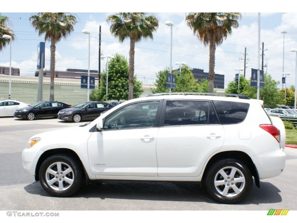 super white 2007 toyota rav4 limited exterior photo. Black Bedroom Furniture Sets. Home Design Ideas