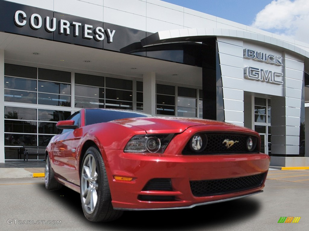 2013 Mustang GT Convertible - Red Candy Metallic / Stone photo #1