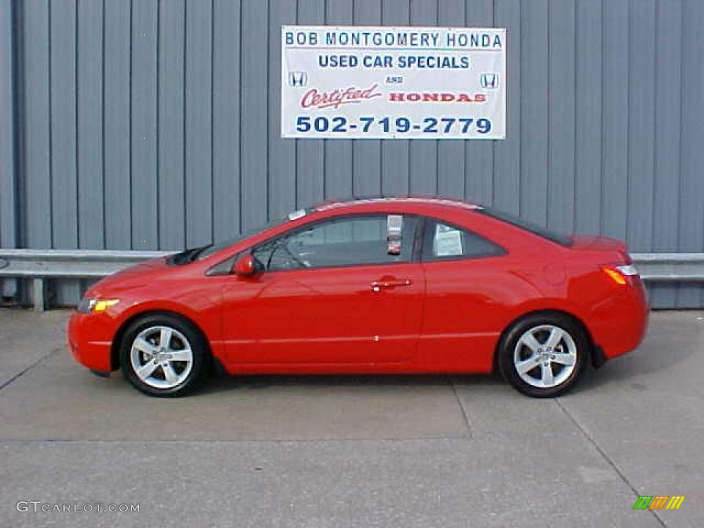 2006 rallye red honda civic ex coupe 9452332 gtcarlot. Black Bedroom Furniture Sets. Home Design Ideas