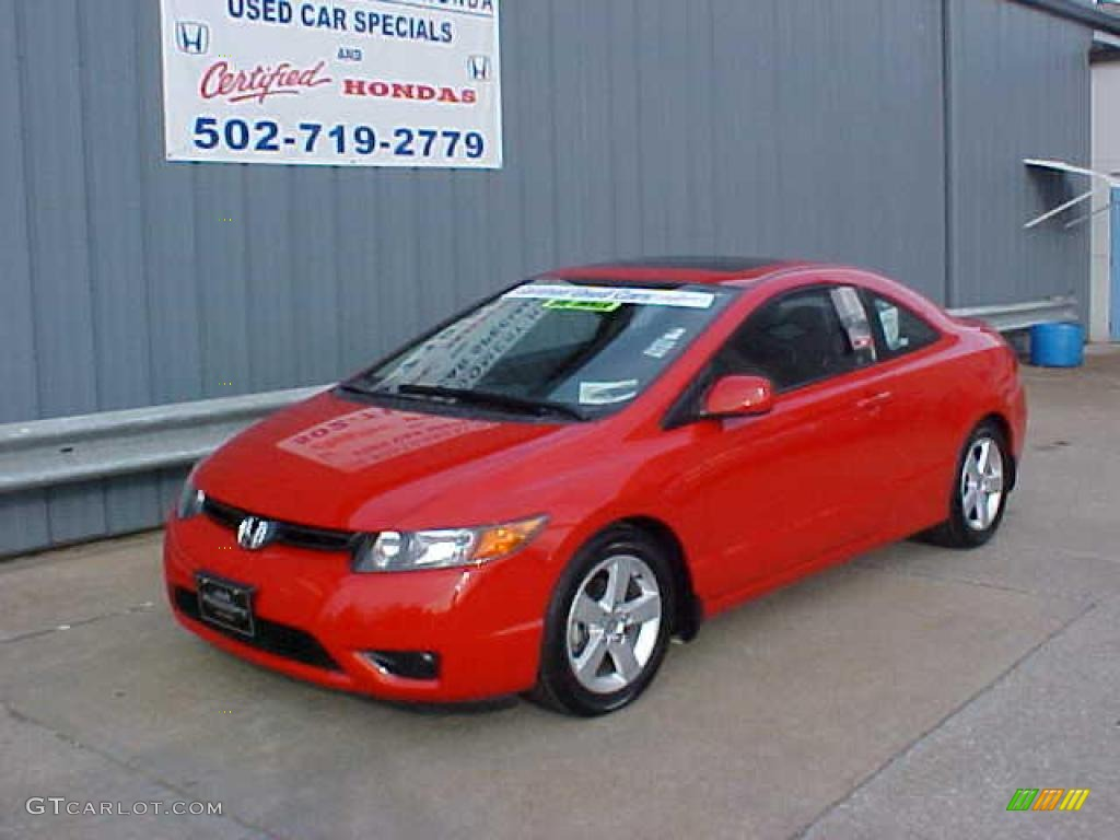 2006 rallye red honda civic ex coupe 9452332 photo 2 car color galleries. Black Bedroom Furniture Sets. Home Design Ideas