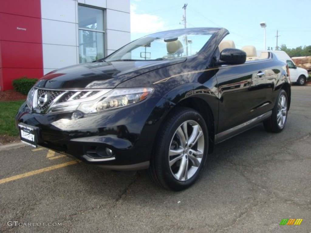 2011 Murano CrossCabriolet AWD - Super Black / CC Cashmere photo #1