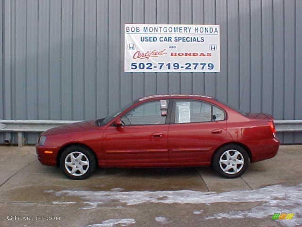 Crimson Dark Red Hyundai Elantra. Hyundai Elantra GLS Sedan
