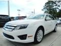 White Platinum Tri-Coat 2012 Ford Fusion Hybrid