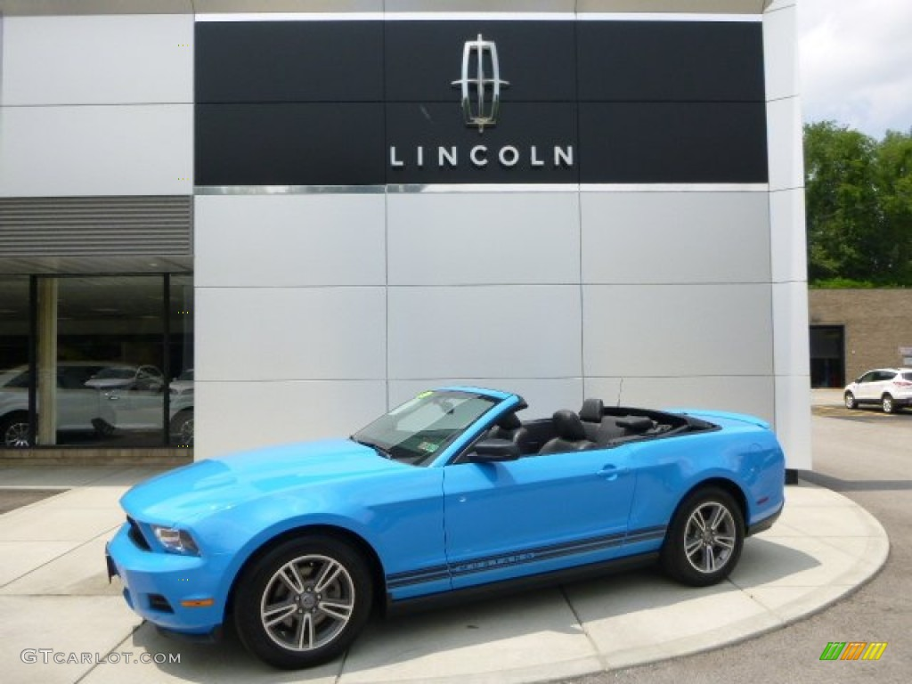2011 Mustang V6 Premium Convertible - Grabber Blue / Charcoal Black photo #1