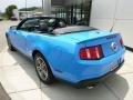 2011 Grabber Blue Ford Mustang V6 Premium Convertible  photo #3