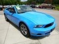 2011 Grabber Blue Ford Mustang V6 Premium Convertible  photo #7