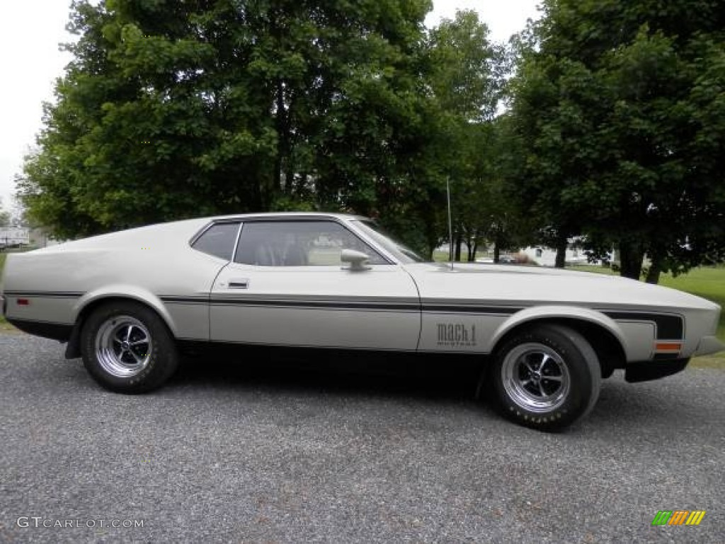 1972 mustang mach 1 coupe silver black photo 1