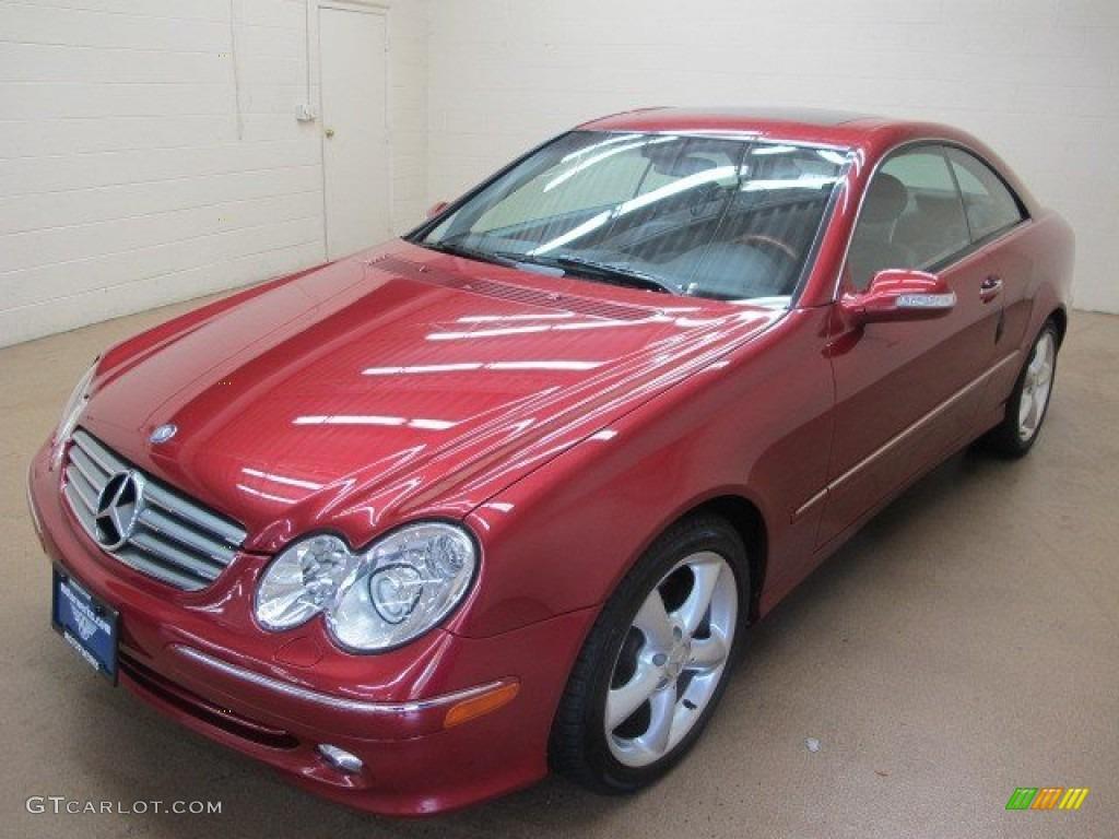 2005 firemist red metallic mercedes benz clk 320 coupe for 2005 mercedes benz clk 320