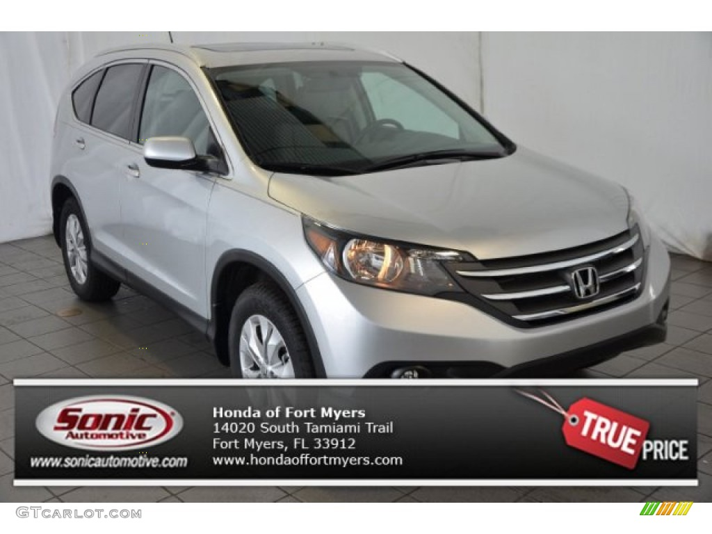 2014 CR-V EX - Alabaster Silver Metallic / Black photo #1
