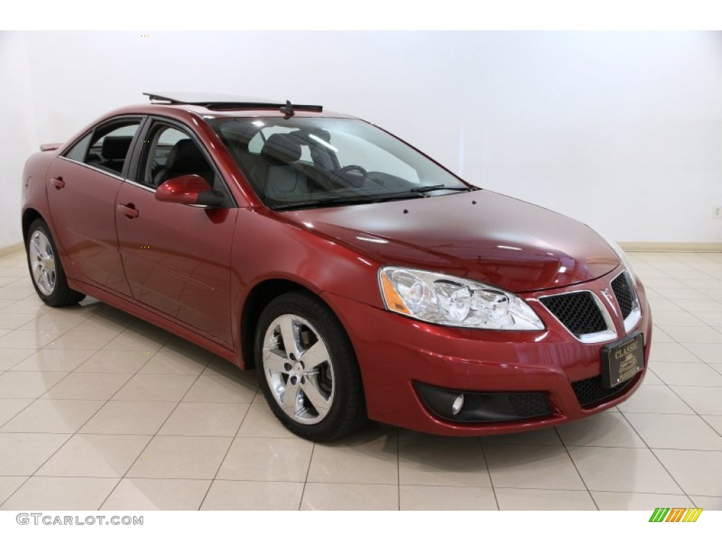 2010 Performance Red Metallic Pontiac G6 Gt Sedan