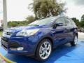 2014 Deep Impact Blue Ford Escape Titanium 1.6L EcoBoost  photo #1