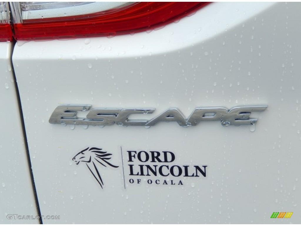 2014 Escape Titanium 1.6L EcoBoost - White Platinum / Medium Light Stone photo #4