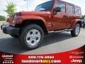 Copperhead Pearl 2014 Jeep Wrangler Unlimited Sahara 4x4