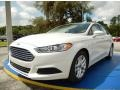 White Platinum 2014 Ford Fusion SE