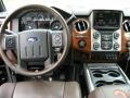 2015 Ford F250 Super Duty King Ranch Mesa Antique Affect/Black Interior Dashboard Photo