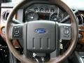 2015 Ford F250 Super Duty King Ranch Mesa Antique Affect/Black Interior Steering Wheel Photo