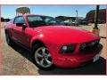 2007 Torch Red Ford Mustang V6 Deluxe Coupe  photo #7